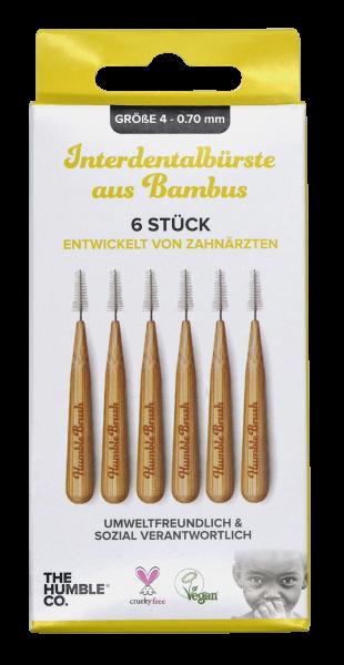 Humble Interdental Bürste aus Bambus 0,70 mm gelb