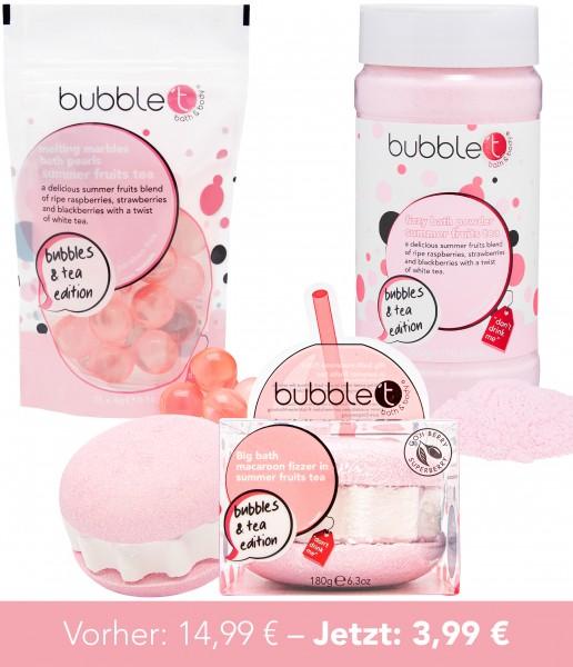 bubble t Bundle 2 - schmelzende Ölperlen, Badepulver, Badezusatz Macaroon