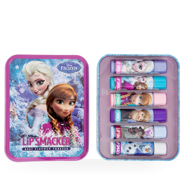 Lip Smacker Disney FROZEN Geschenk Tin Box mit 6 Lippenpflegestiften