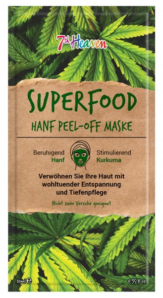 Superfood Hanf Peel-Off Maske, Unisex