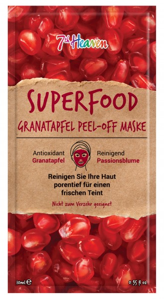 Superfood Peel-Off Maske Granatapfel, Unisex