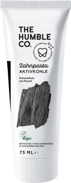 The Humble Co. Aktivkohle Zahnpasta 75 ml