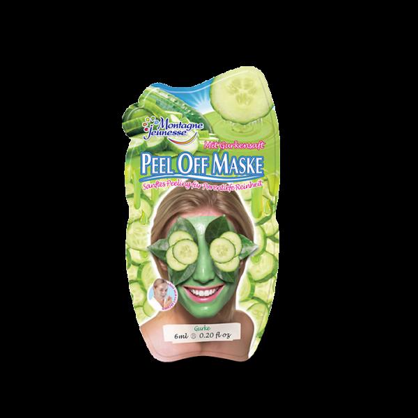 Montagne Jeunesse Peel-Off Maske - Gurke - mit natürlichen Inhaltsstoffen - Mini Sachet