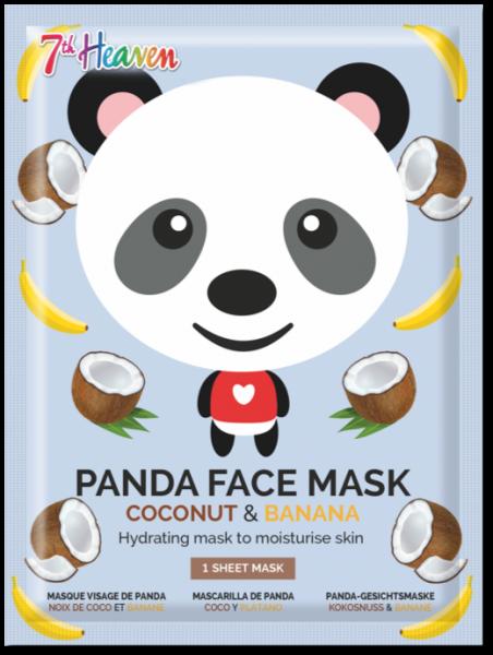 Panda Tuchmaske mit Kokosnuss, Banane und Grüntee