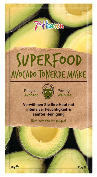Superfood Schlamm-Maske Avocado, Unisex