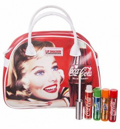 Coca-Cola™ Vintage Bowling Bag Handtasche - incl. 3 Lippenpflegestiften u. 1 Lipgloss-Copy