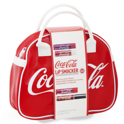 Coca-Cola™ Mini Bowling Bag Handtasche - incl. 3 Lippenpflegestiften u. 1 Lipgloss