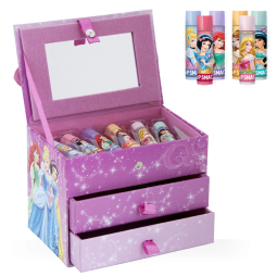 Disney Princess Schmuckkästchen mit 6 Lippenpflegestiften